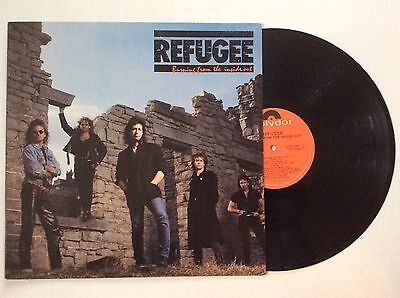"""REFUGEE 1987 """"BURNING FROM THE INSIDE OUT"""" RARE AOR ROCK PROMO vinyl  LP MINT"""