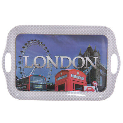Brand New London Collage Melamine  Tray 39Cm'  By Ted Smith