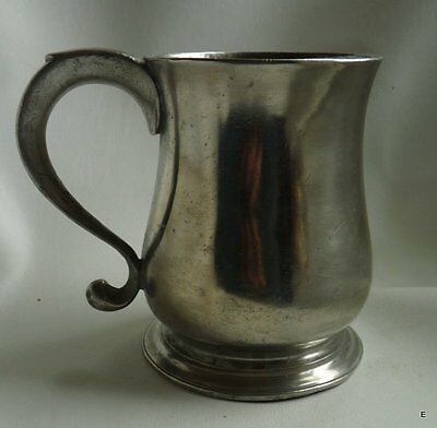 18th-Century English Export Pewter Pint Cann/Mug by John Townsend, London