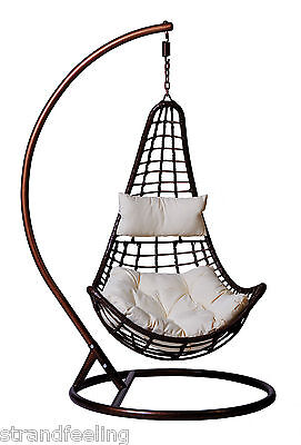 Hanging seat chair Diva Hammock Swing Cocoon out Synthetic rattan in XXL