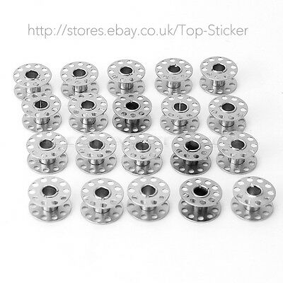 20Metal Stainless Sewing Machine Bobbins Spools fit BROTHER TOYOTA JANOME SINGER