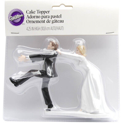 "Wilton CAKE TOPPER Oh No You Don't Humorous Funny Wedding Decorations 4"" Height"