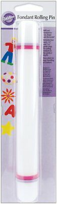 "Wilton Fondant 9"" Non-Stick Rolling Pin Cake Decorating Tool Easy To Handle"