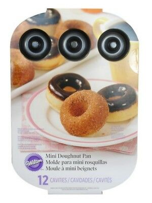 Wilton Mini DOUGHNUT BAKING PAN 12 Durable Nonstick Cavities Mini Cakes/Treats