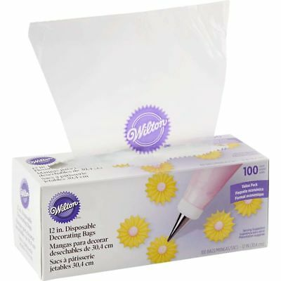 Wilton 12 Inches 100 Pack Disposable Decorating Bags New Strong Flexible Plastic
