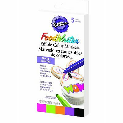 Wilton Fine Tip Food Writer Edible Color Markers Cake Fondant Fondant Decorating