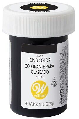 Wilton Black FOOD COLORING Concentrated Paste 1 Ounce Icing/Cakes/Dough's