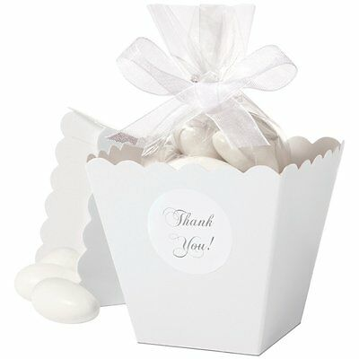 Wilton Popcorn/Candy Box Kit In White, Wedding Supplies Favors Candy Or Treats