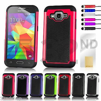 32nd Dual-Layer Shockproof Case Cover for Samsung Galaxy A Phones + Stylus