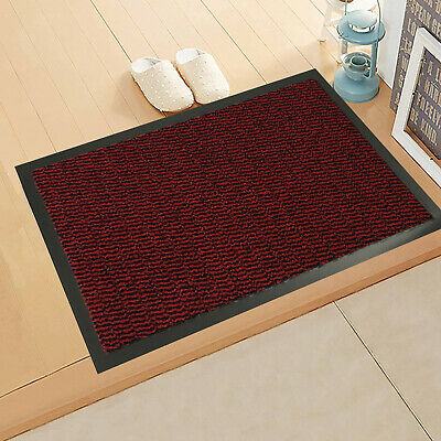 Red Large Small Heavy Duty Barrier Mat Kitchen Non Slip Rubber Back Hall Rugs