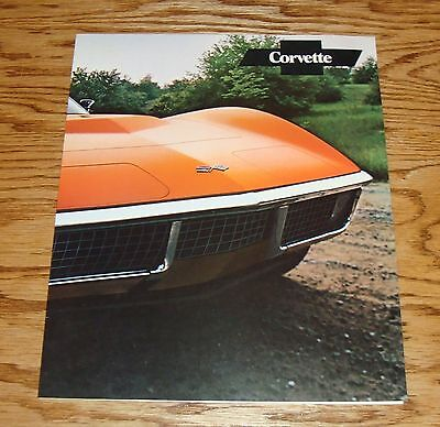 Original 1971 Chevrolet Corvette Facts Features Sales Sheet Brochure 71 Chevy
