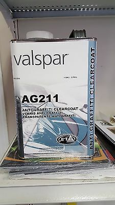 Valspar AG211 Anti-Graffiti Clearcoat((2:1:1)-ACTIVATOR NOT INCLUDED