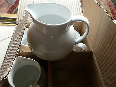 One Wedgwood Milk Water Cream Jug White Ceramic 1 Pint, 5 Inches X 3 Inches New