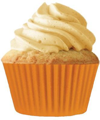 "Cupcake Creations 2"" BAKING CUPS Orange 32 Pack No Muffin Pan Need Eco Friendly"