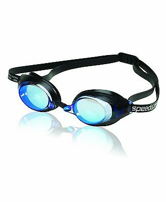 Speedo Speed Socket Swim-Swimming Competition-Racing Anti-Fog Goggles Blue New