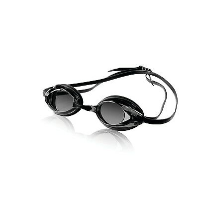 Speedo Vanquisher Optical Competition Swim Swimming Goggles Smoke Diopter -8.0