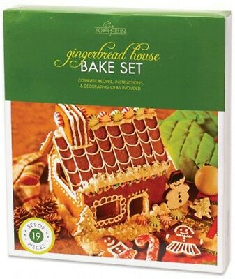Fox Run Gingerbread House Bake Set - 19 Pieces - Recipe - Instructions