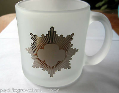 Girl Scout Cadette SILVER AWARD FROSTED MUG Drinking Glass Coffee Cup NEW Gift