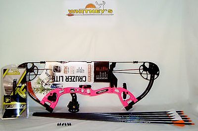 """NEW! Fred Bear 2016 Cruzer LITE PINK Bow Right Hand FULL Package  5-45#  12-27"""""""