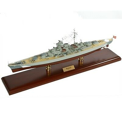 German Battleship Bismarck Desk Top Display 1/350 Ship WWII Navy Boat ES Model