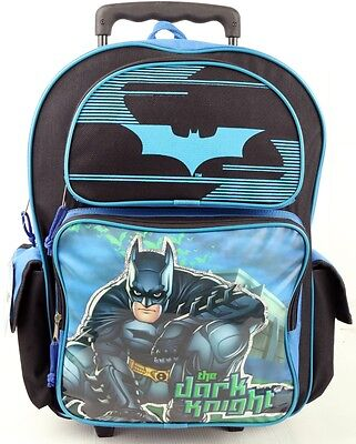"""Brand New Batman: Dark Knight 16"""" LARGE ROLLING BACKPACK For Boys - USA SHIP!"""