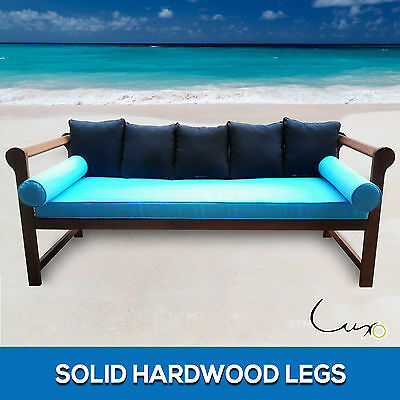Eucalyptus Wooden Day Bed Chair Cushion Timber Furniture Outdoor Garden Daybed
