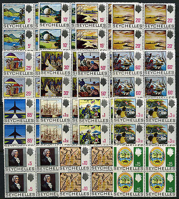 Seychelles 257//271 Mint 1968 QEII Stamps MNH Block Set cv $154.80 6A11 9