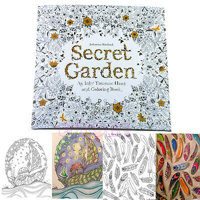 Hot SECRET GARDEN An Inky Treasure Hunt and Coloring Book By Johanna Basford
