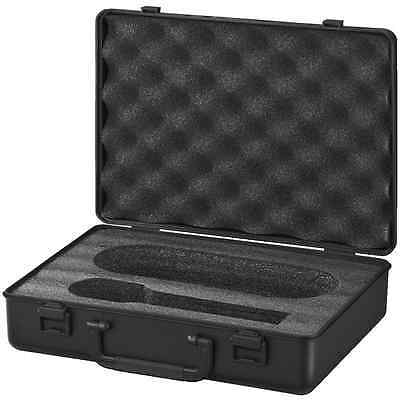 Microphone carrying case box padded interior for a handheld & cable plastic