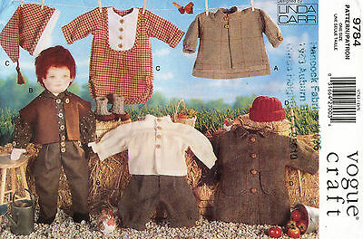 """VOGUE Doll Clothes by Linda Carr Pattern 9784 Size 18"""""""