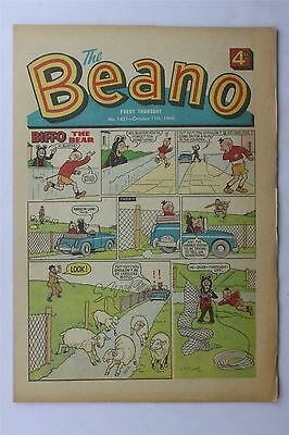 The Beano #1421 October 11th 1969 FN+ Vintage Comic Silver Age Dennis The Menace