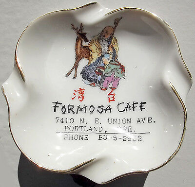 Oregon Ashtray, Formosa Cafe, Chinese Restaurant F.S. Louie, 40s-50s Portland OR