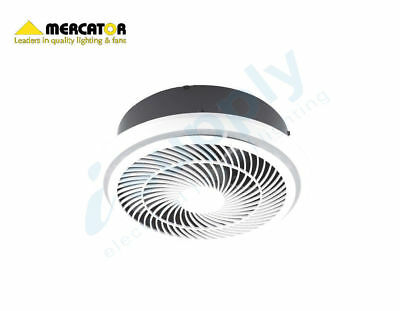 Mercator Helix HIGH EXTRACTION Bathroom Exhaust Fan Round White BE3100TPWH