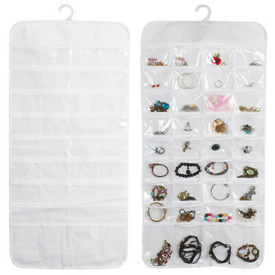 JEWELRY HANGING Storage Organizer 72 Pocket Holder Earring Bag Pouch
