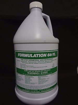CHAMPION FORMULATION 64-YL Germicidal Cleaner & Deodorant Concentrate 1 Gallon