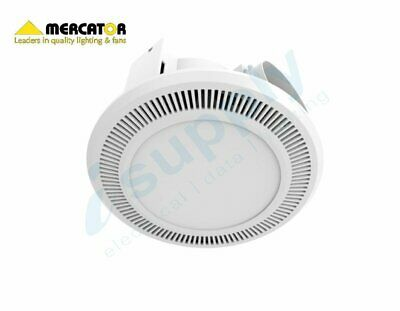 Ultraline LED HIGH EXTRACTION Bathroom Exhaust Fan w/12w Mercator BE150ESPWH
