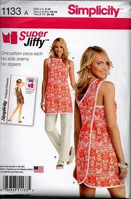 Simplicity Sewing Pattern 1133 Misses 6-18 Super Jiffy Wrap Top Tunic Pants NEW