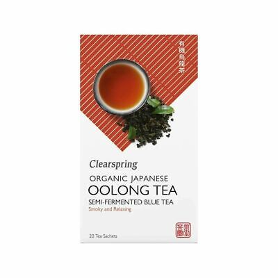 Clearspring Japanese Organic Oolong Tea 20 Bags 40g * Smoky & Relaxing*