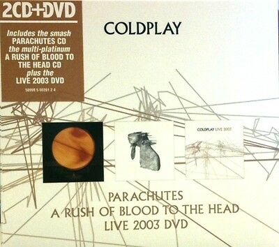 Coldplay - Gift Pack (2007)  2CD+DVD  NEW  (Parachutes/Rush of Blood/Live 2003)