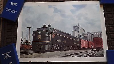 Railroad Poster Western Maryland #302 Fast Freight Line FOGG 22.5 x 15.75 inches
