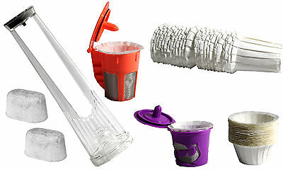 Keurig 2.0 Brewers Charcoal Water Holder Disposable Paper Filters K-Cup K-Carafe