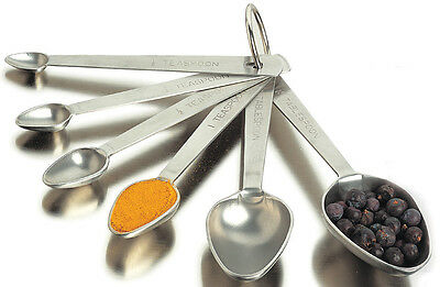 Amco Professional Performance Stainless Steel Measuring Spoons (Set of 6)