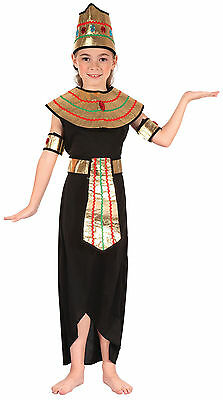 Girls Cleopatra Ancient #Egyptian Queen Of The Nile Child Outfit Fancy Dress