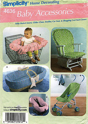 Simplicity Baby Accessories Pattern 4636 UNCUT