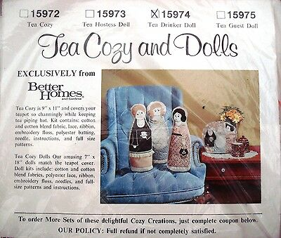 1970's VTG  Tea Cosy Drinker Doll Better Homes&Garden Kit Pattern 15974