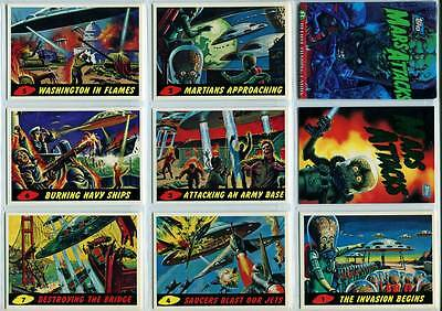 Topps Mars Attacks Archives 1994 Complete 100 Card Set + 2 Different Wrappers