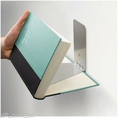 Umbra CONCEAL Invisible Floating BOOK SHELF - LARGE Silver