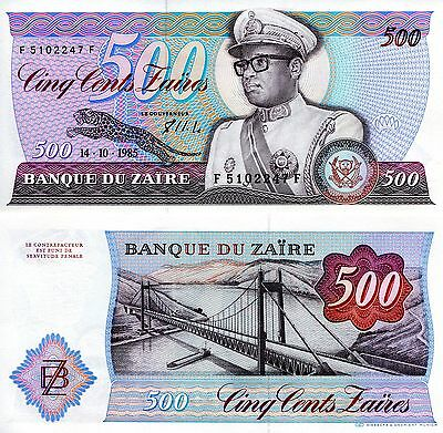 ZAIRE 500 Zaires Banknote World Money Africa Currency Congo Bill p30b UNC Mobutu
