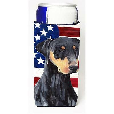 Usa American Flag With Doberman Michelob Ultra bottle sleeves For Slim Cans 1...