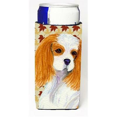 Cavalier Spaniel Fall Leaves Portrait Michelob Ultra s For Slim Cans 12 oz.
